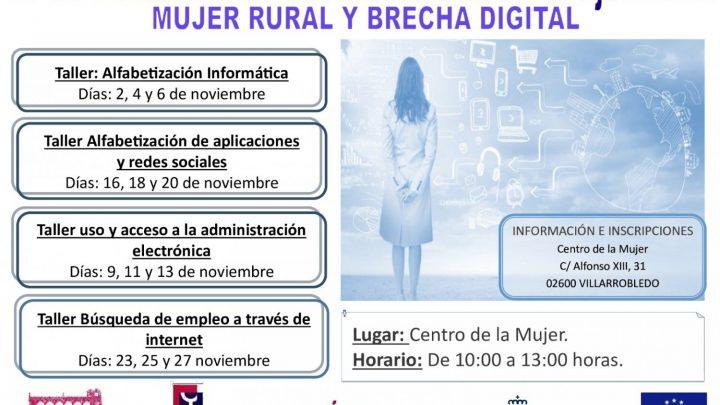 El Centro de la Mujer de Villarrobledo pone en marcha talleres dirigidos a reducir la brecha digital en el medio rural