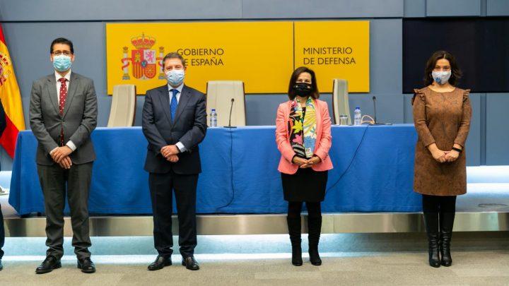 """García-Page valora el convenio con el Ministerio de Defensa como """"una oportunidad para muchas familias"""" de Ciudad Real en materia de vivienda"""