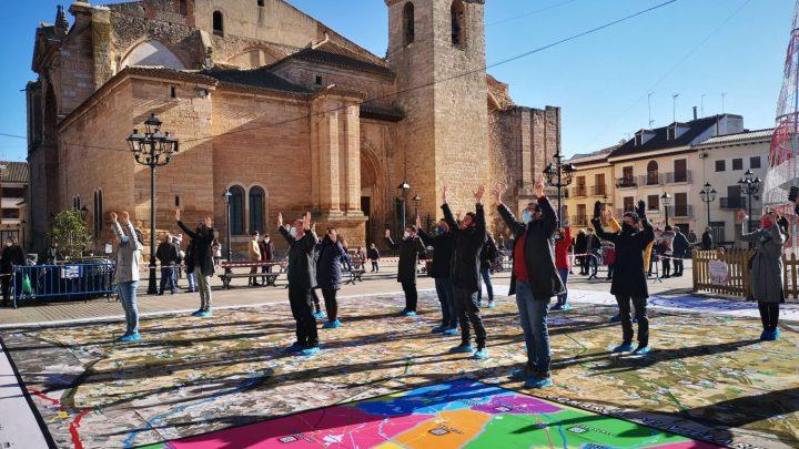 """Un mapa gigante e interactivo, importante reclamo turístico para la marca """"Ciudad Villarrobledo"""""""