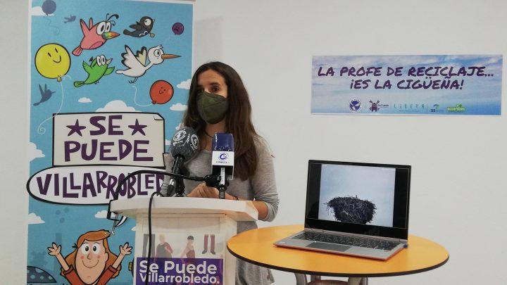 Instalada la webcam para el seguimiento de la única pareja de Cigüeñas de la provincia de Albacete.
