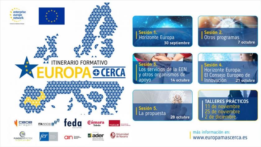FEDA LANZA EL ITINERARIO FORMATIVO EUROPA+CERCA 2021 PARA ACERCAR LA FINANCIACIÓN EUROPEA A EMPRESAS EN I+D+I
