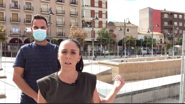 El PP rechaza el derribo de la fuente de la Plaza de la Constitución como consecuencia de la dejadez del equipo de Gobierno.